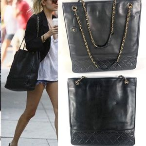 🔥EXTRA-LARGE🔥CHANEL BLACK TOTE